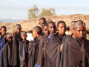 Girls from Esiteti community prepare to undergo an alternative rite of passage.