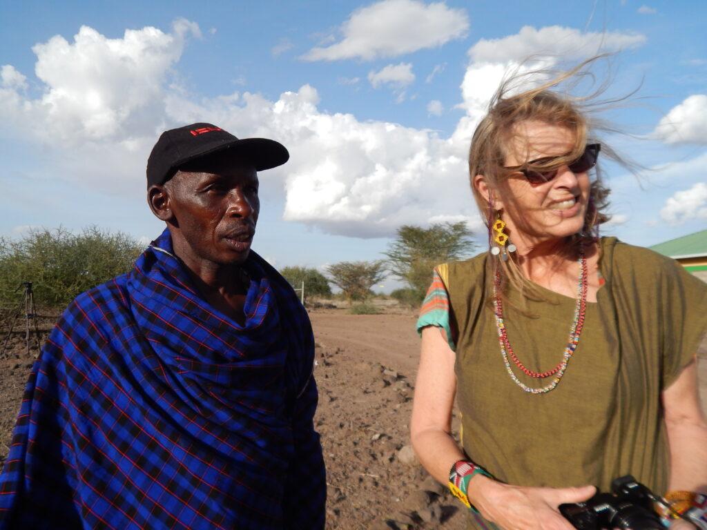 James Kamete (left) with Terri Gebrielsen, founder, Africa Schools of Kenya