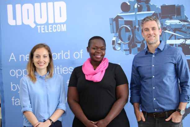 The three Kenyan finalist firms : Maria Rabinovich – Co-Founder and Manging Director (left), Maryina Adega – Field and Partnerships Coordinator, Tiny Totos Kenya (Centre) and Paul Brellof –Co-Founder and CEO Shortlist (Right), during the unveil of the Kenyan finalists to the 2019 Africa Innovation Challenge