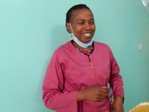Dorcas Musera Gakunju at her clinic in Nairobi.