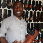 24-year old Kenyan makes eco-friendly shoes from waste