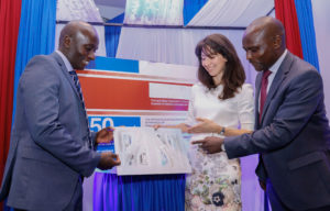 Janssen Kenya Key account manager/product specialist for Neuro science  Dedan Kihara, Lisbon Psychiatrist Hospital centre consultant Dr. Soffia Brissos and Dr. Eric Muchangi Country Medical Affairs Manager Jansen during the launch of Paliperidone Palmitate for the treatment of schizophrenia
