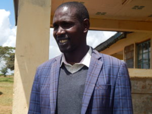 Peter Lemuna, headteacher at Logorate Primary School