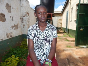 Joyce Odhiambo, a beneficiary of the Menstrual Hygiene Program by Garden of Hope Foundation