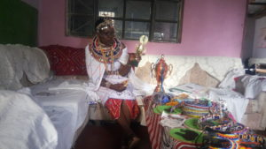 Tompo displays some of her trophies she won out of her Anti FGM Activism.