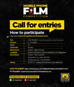 "Call for Entries: 3rd edition ""My Kenya My Story"" mobile phone film competition"