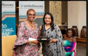 Renee Ngamau the chairperson of Amnesty International Kenya Chairperson (left) feted for her work