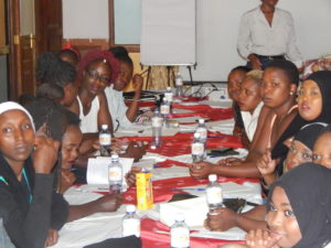 A secton of Young Urban Women leaders during a training in Nairobi-PHOTO-LILIAN KAIVILU