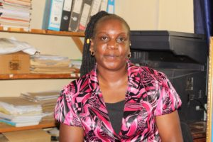 Christine Anditi Deputy Principal Mariwa Mixed Secondary School. The school is one of the beneficiaries of the Bicycle Education Empowerment Project by Plan international
