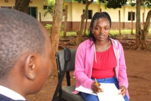 Hilda* a beneficiary of the BEEP project during the interview.
