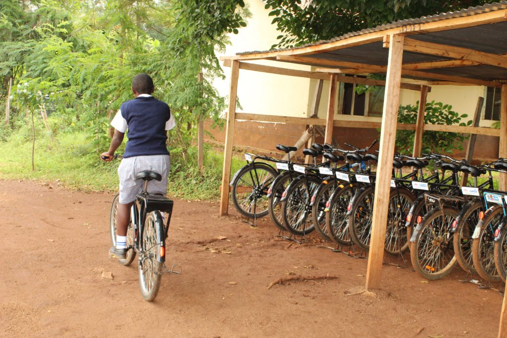One of the beneficiaries of the BEEP project at Mariwa Mixed Secondary School