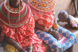 Mothers wait at Westgate dispensary in Samburu County. PHOTO: LILIAN KAIVILU