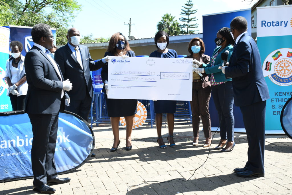 Stanbic Bank, Rotary District 9212 invest in 700 sanitation stations across Kenya