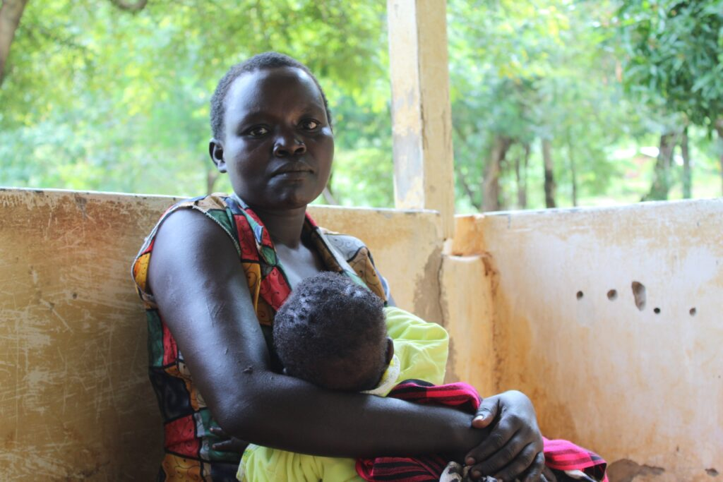 Emily Lochikuk a mother of three in Weiwei area West Pokot County. PHOTO: Ismael Otieno