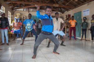 Children at the Cheza Cheza organisation dance session