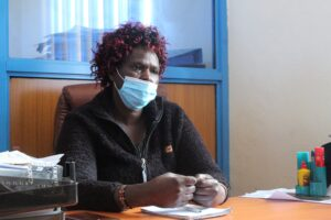Julia Sipoti, a nurse and the West Pokot County Health Promotion Unit coordinator