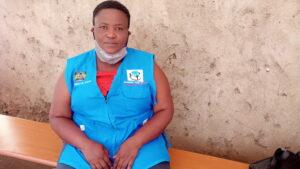 Martha Mwanza, a community health volunteer