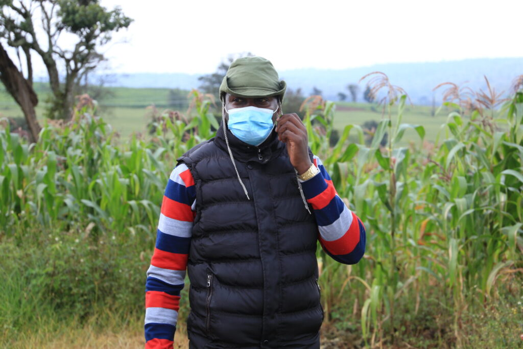 Mark Lari Letoluo is a community health worker in Ololung'a, Narok County.