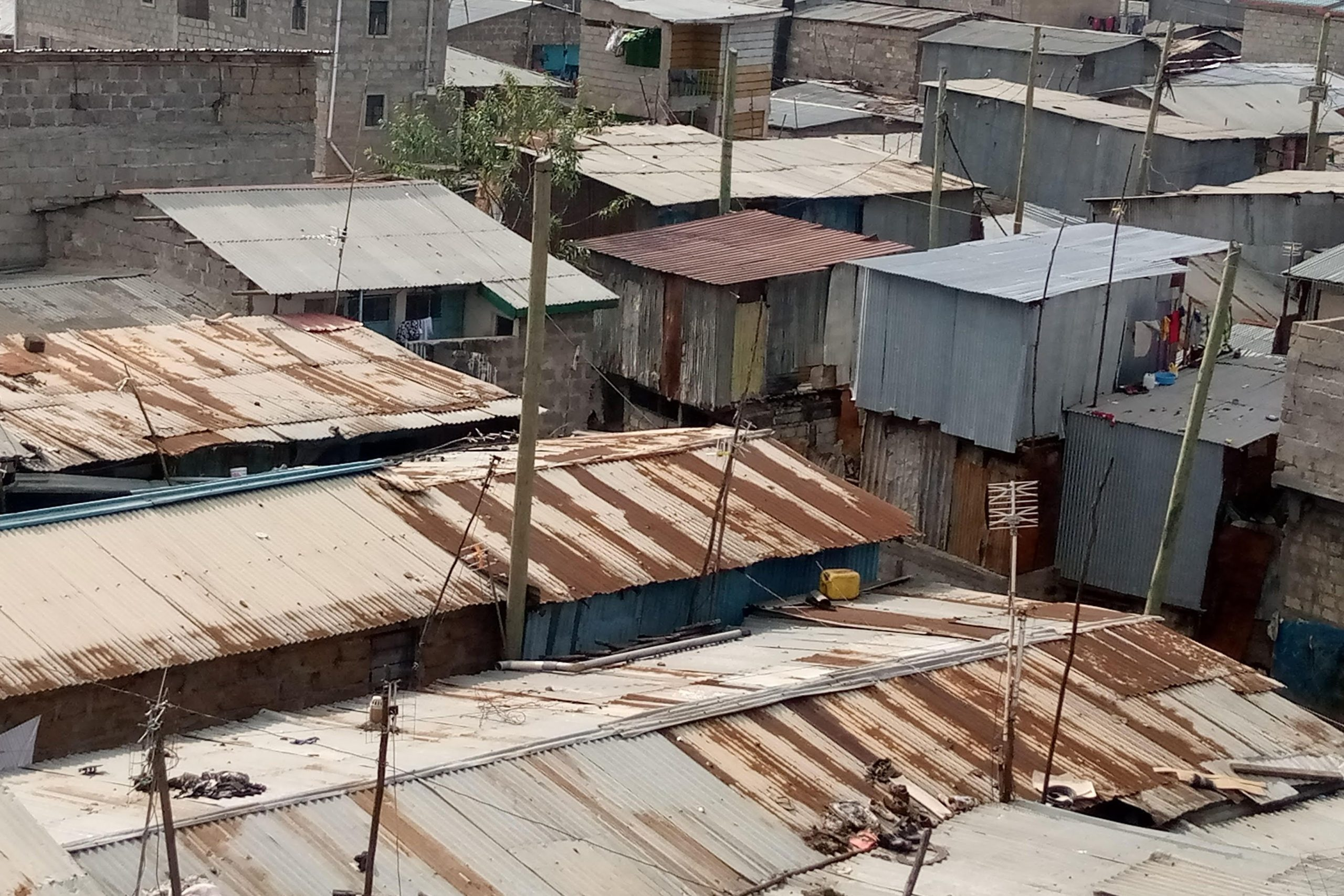 A section of Mukuru Kayaba in Nairobi. Many residents here struggle to access health facilities on time due to poor road network.