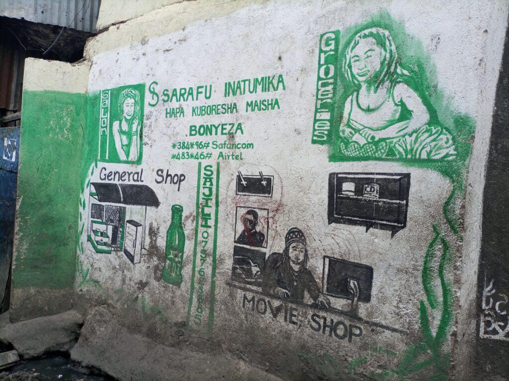 Graffiti depicting the Kayaba Sarafu network