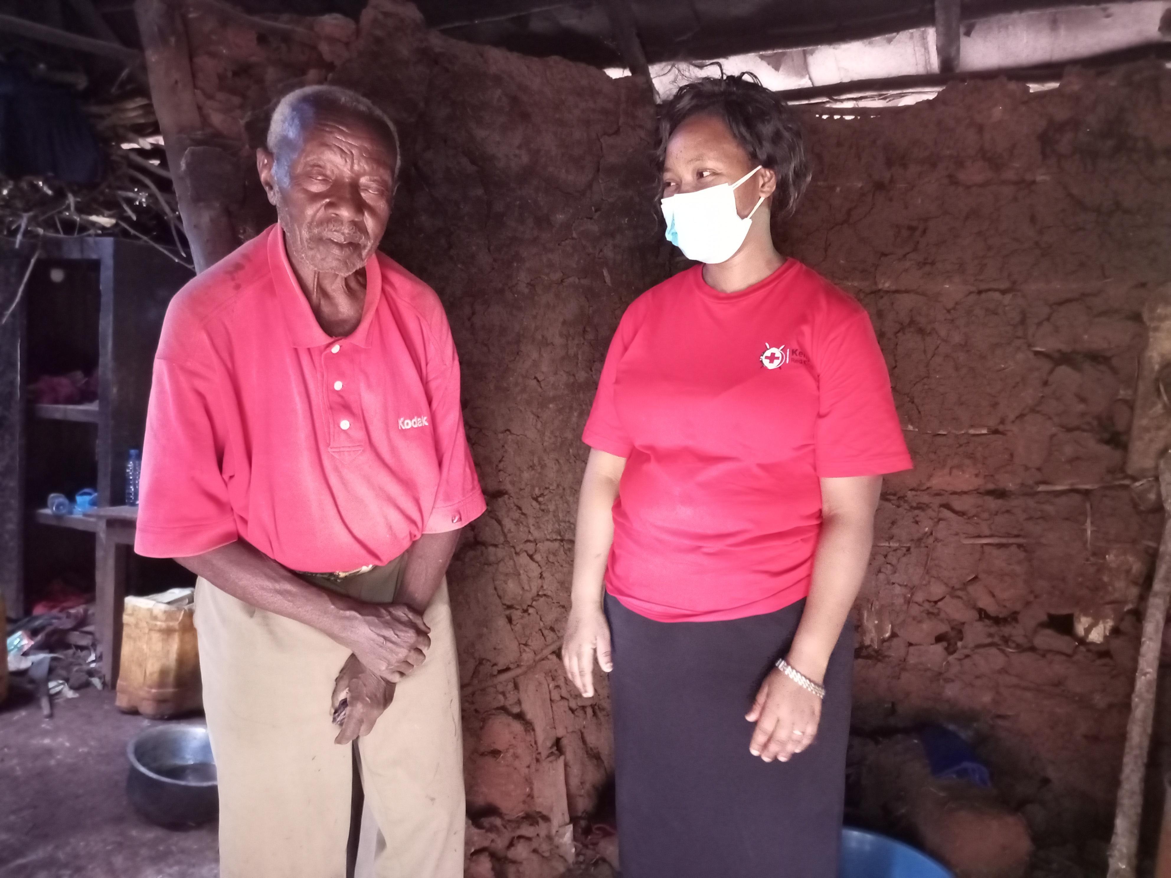 Mumbi with Joseph Kamau at his home in Marewa in Kiharu